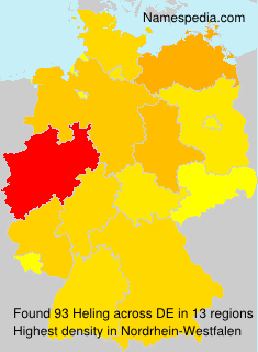 Surname Heling in Germany