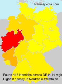 Surname Henrichs in Germany
