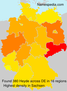 Surname Heyde in Germany