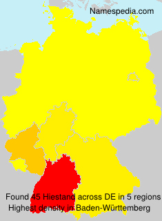 Surname Hiestand in Germany