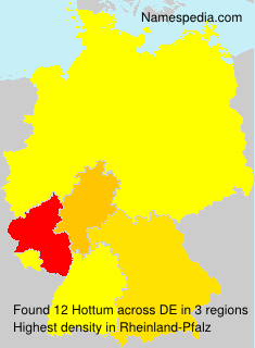 Surname Hottum in Germany