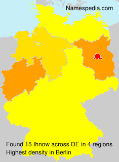 Surname Ihnow in Germany