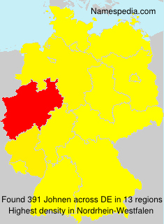 Surname Johnen in Germany