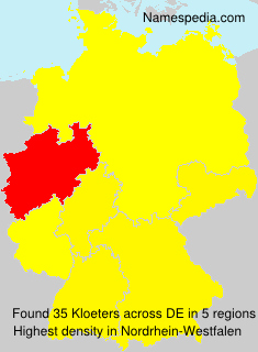 Surname Kloeters in Germany