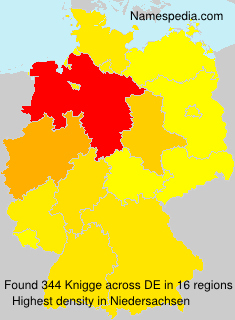 Surname Knigge in Germany