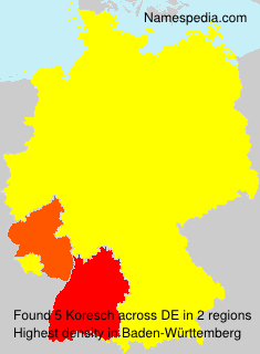Surname Koresch in Germany