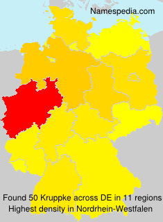 Surname Kruppke in Germany