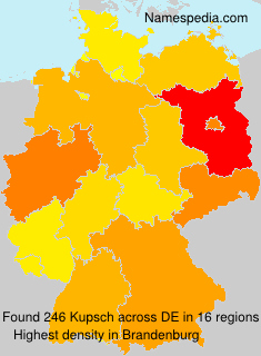 Surname Kupsch in Germany