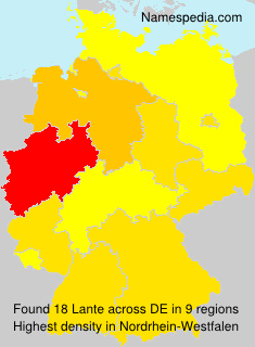 Surname Lante in Germany
