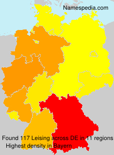 Surname Leising in Germany