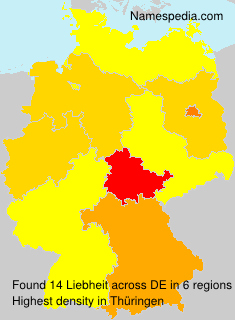 Surname Liebheit in Germany
