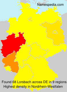Surname Lorsbach in Germany