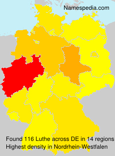 Surname Luthe in Germany