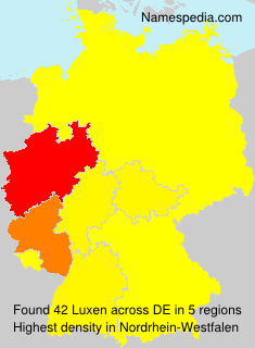 Surname Luxen in Germany