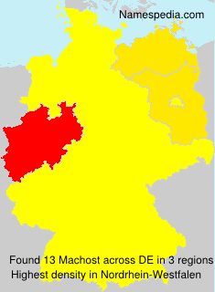 Surname Machost in Germany