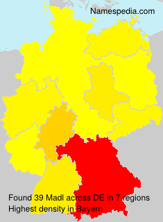 Surname Madl in Germany