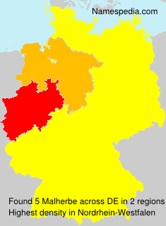Surname Malherbe in Germany