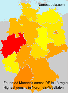Surname Manneck in Germany