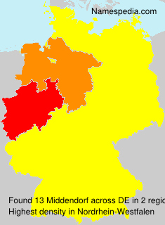 Surname Middendorf in Germany