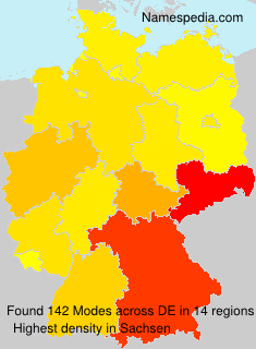 Surname Modes in Germany