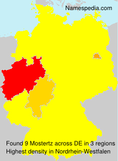 Surname Mostertz in Germany