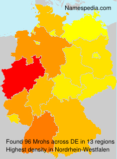 Surname Mrohs in Germany