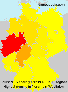 Surname Nebeling in Germany