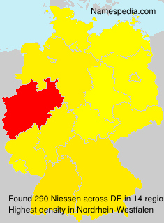 Surname Niessen in Germany