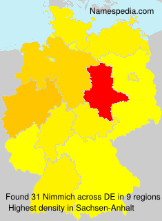 Surname Nimmich in Germany