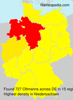 Surname Oltmanns in Germany