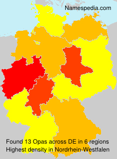 Surname Opas in Germany