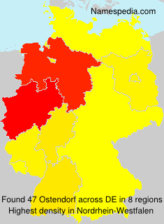 Surname Ostendorf in Germany