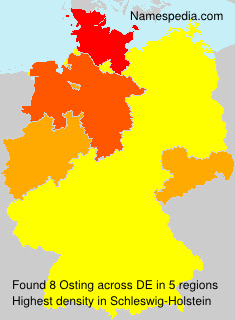 Surname Osting in Germany