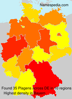 Surname Plagens in Germany