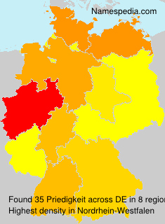 Surname Priedigkeit in Germany