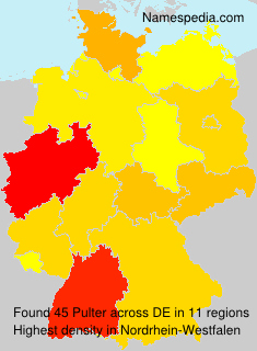 Surname Pulter in Germany