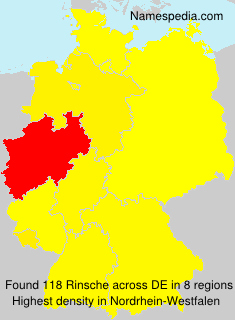 Surname Rinsche in Germany