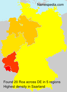 Surname Roa in Germany