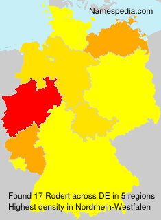 Surname Rodert in Germany
