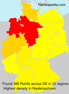 Surname Rohlfs in Germany