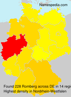 Surname Romberg in Germany