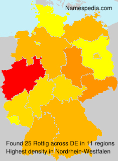 Surname Rottig in Germany