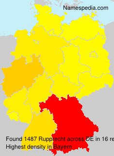 Surname Rupprecht in Germany