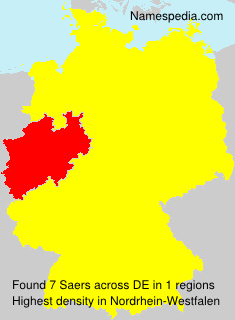 Surname Saers in Germany
