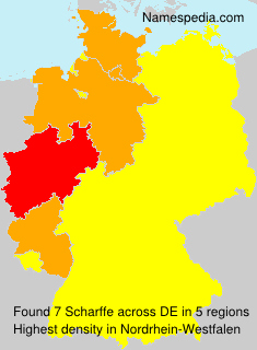 Surname Scharffe in Germany
