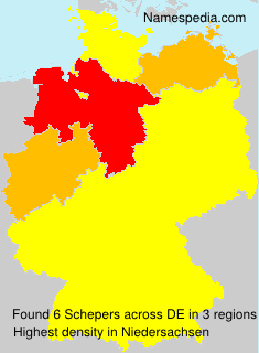 Surname Schepers in Germany
