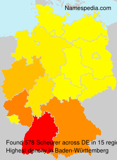 Surname Scheurer in Germany