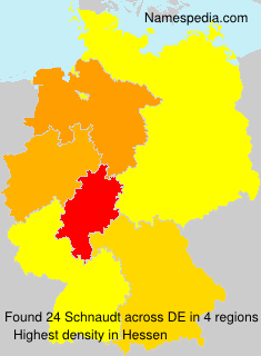 Surname Schnaudt in Germany