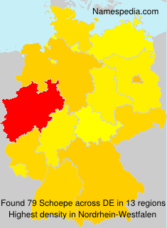 Surname Schoepe in Germany