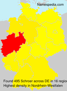 Surname Schroer in Germany